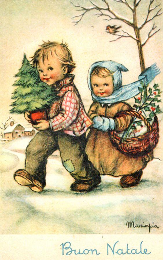 Immagini Vintage Natale.Maria Pia Franzoni Immagini Di Natale Buon Natale Illustrazione Di Natale