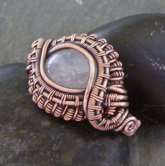 Moonstone Copper Ring