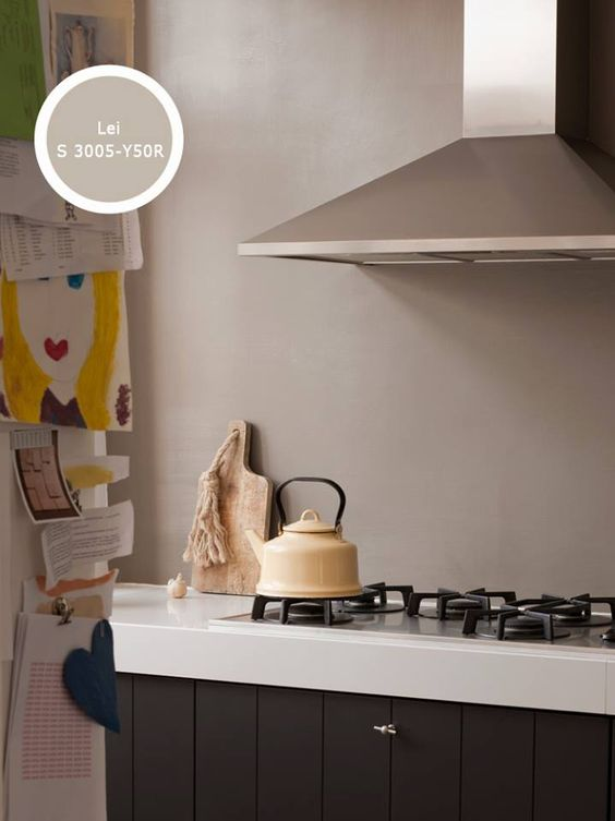 Kies voor kleur ook in de keuken heel goed mogelijk met histor reinigbaar keuken idee n - Kies kleur ruimte ...