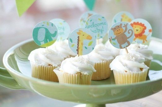 Free jungle baby shower printables