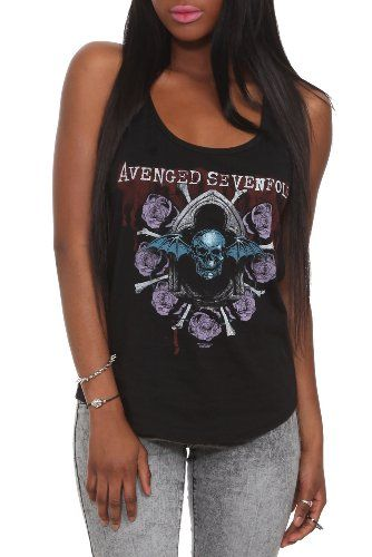 Avenged Sevenfold Roses Girls Tank Top....