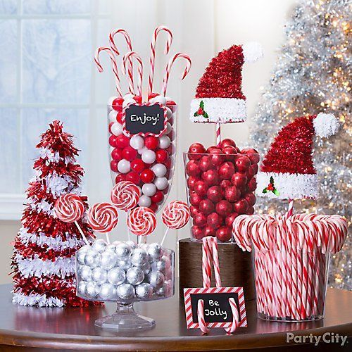 Candy Cane Christmas Treats And Decor Ideas In 2020 Christmas Party Candy Work Christmas Party Peppermint Christmas