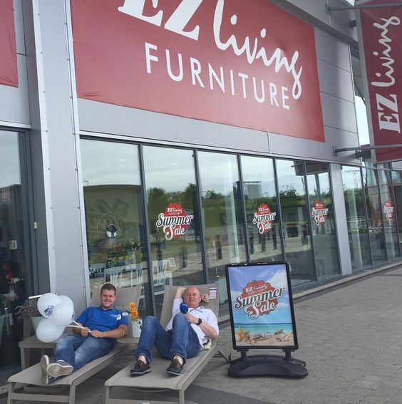 The men are already worn out here at EZ Living Waterford's massive Summer Sale. They're giving away one 100 voucher every 30 minutes so call in and say hello  #EZLivingFurniture #wlrfm #Waterford