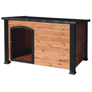 Medium Extreme Outback Log Cabin Dog House 7027012 The Home Depot In 2021 Cool Dog Houses Log Cabin Dog House Wooden Dog House