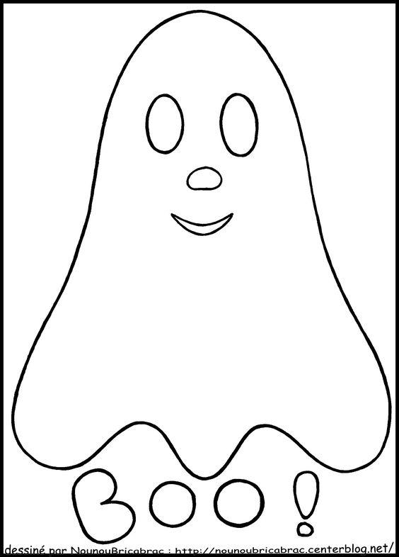 Fant me souriant colorier halloween pinterest blog google et recherche - Dessin facile d halloween ...