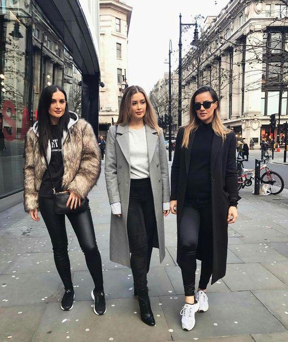 @nikcisisters Ardiana|Alberita|Nora  #oxfordstreet #england #style #streetstyle #2018teenfashion