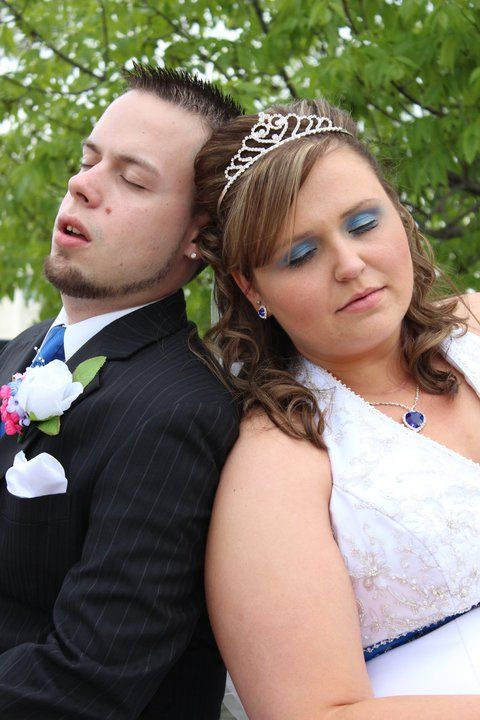 My favorite picture of the wedding tells you how very tiring it is to plan a wedding and when its there your so exhausted lol