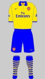 arsenal 2013-14 away kit