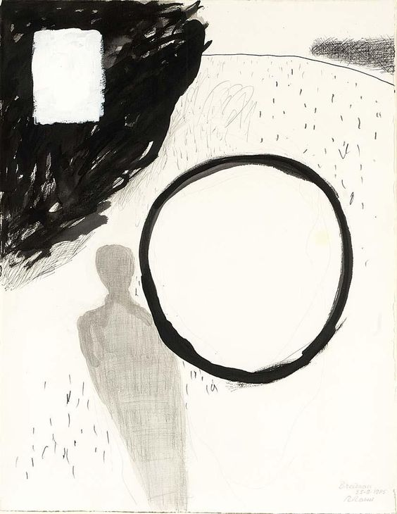 "thunderstruck9: "" Roger Raveel (Belgian, 1921-2013), Untitled, 25th September 1985. Gouache, ink and pencil on paper, 65 x 50 cm. """