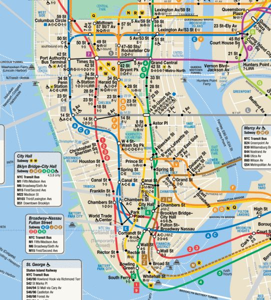 Street And Subway Map Of Nyc.Nyc Subway Map With Street Overlay Afp Cv