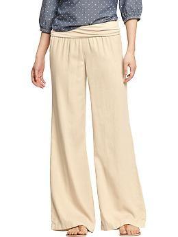 Womens Navy Linen Pants