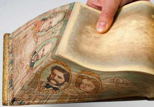 Hidden Edge Painted Books | Painted books, Antique books