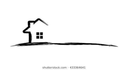 Real Estate Vector Logo Design Simple Realty With Line And Roof Represented Strong And Modern Real Estate Colorful Logo Design Vector Logo Design Vector Logo