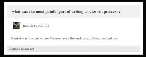 OMG - Cassie answers what the hardest part of writing Clockwork Princess was... WOW