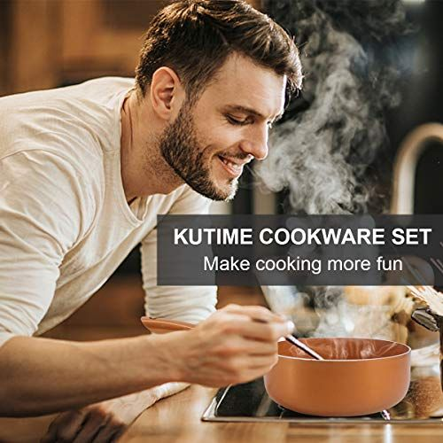 Kutime 6pcs Cookware Setnonstick 6 Piece Cookware Set Includes 8