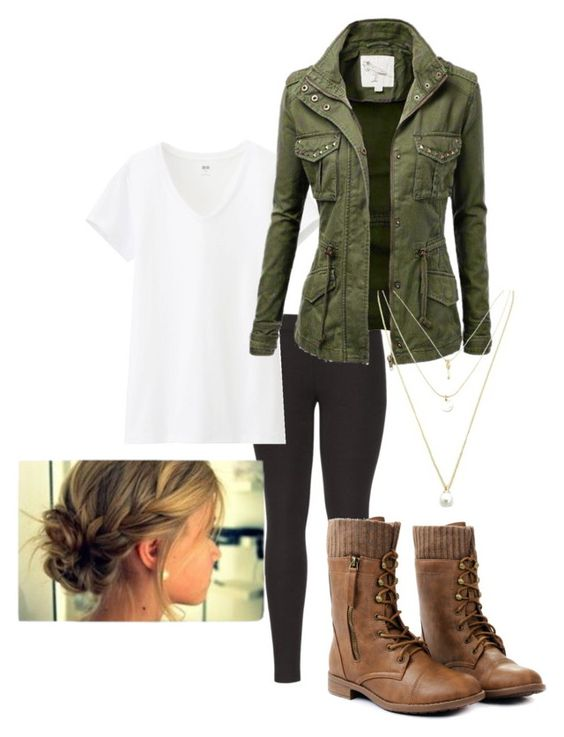 Untitled #72 by brooklynhollingshead on Polyvore featuring polyvore, fashion, style, Uniqlo and maurices