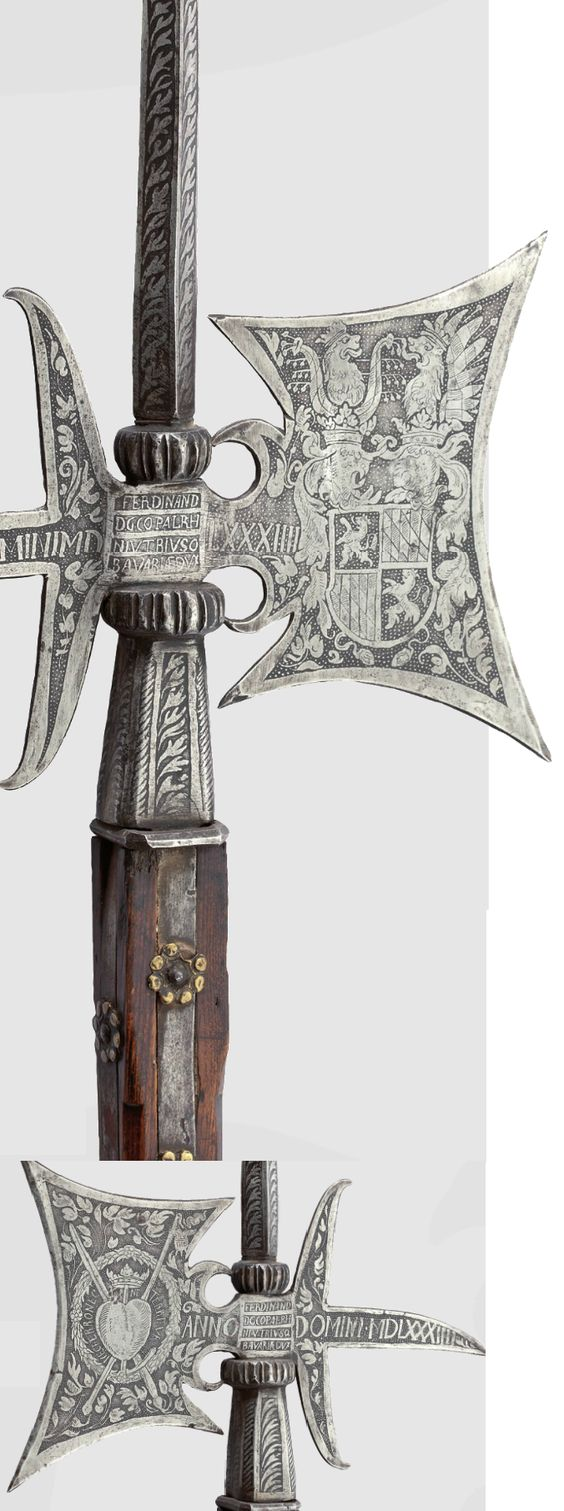 An etched halberd of the Palace Guard of Ferdinard of Bavaria, ca. 1584.