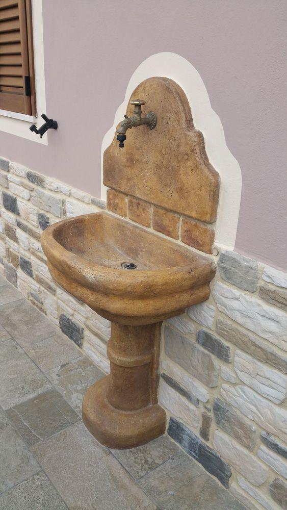 Fontana Murale Venezia Con Supporto Outdoor Wall Fountains Garden Fountains Garden Shower
