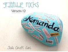 Jedi Craft Girl: Gratitude Rocks version 1.2  possible children's church idea for gratitude month