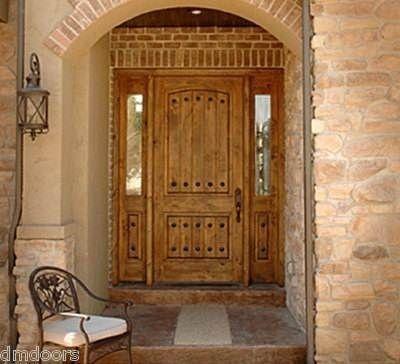 Knotty alder pre hung wood doors front exterior entry door for Wood entry door manufacturers
