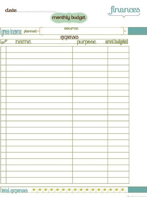 Home Management Binder Finances BILLS INFO SHEET MY PRINTABLES