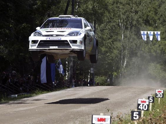 WRC / suspension testing course / a real life 'Dukes of hazard' re-enactment type course