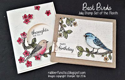 July Stamp set of the Month - Best Birds - by Melissa Davies @rubberfunatics…