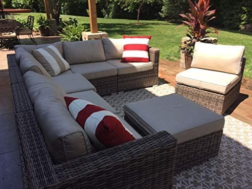 Amazon Com Wicker Patio Furniture Conversation Set No Assembly Outdoor Section In 2020 Patio Furniture Conversation Sets Wicker Patio Furniture Outdoor Sectional Sofa