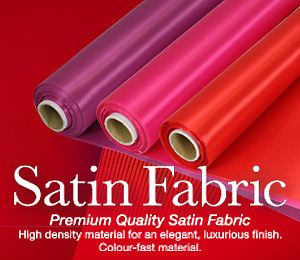20m Roll Satin Fabric for Wedding Table Runner, Chair Sash, Bow, Swag decoration | eBay