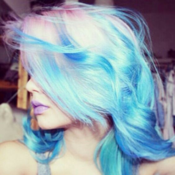 Cotton Candy Blue Hair: Blue Cotton Candy, Cotton Candy Hair And Emo Hairstyles On