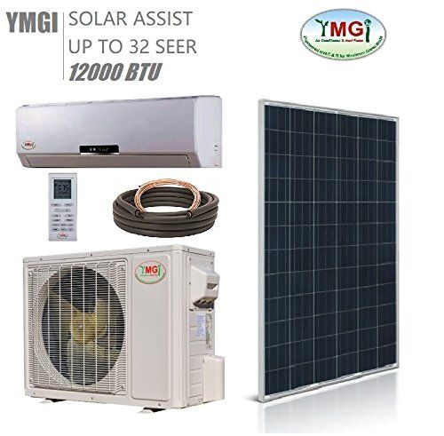 Ymgi 1 Ton 12000 Btu Solar Assist Ductless Mini Split Air Https Www Amazon Com Dp B07d2zgdrg Re Ductless Mini Split Heat Pump Split System Air Conditioner