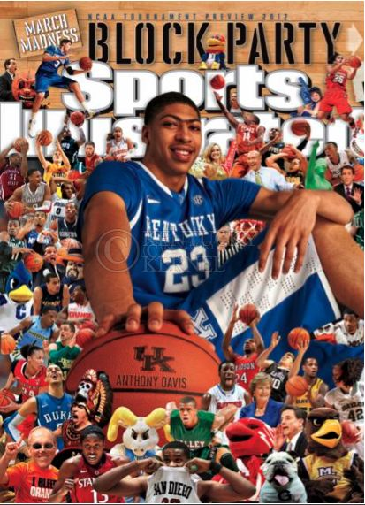 Anthony Davis on the cover of Sports Illustrated.