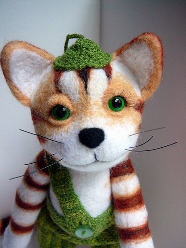 Findus the Cat Felted by skazkodrom on Etsy