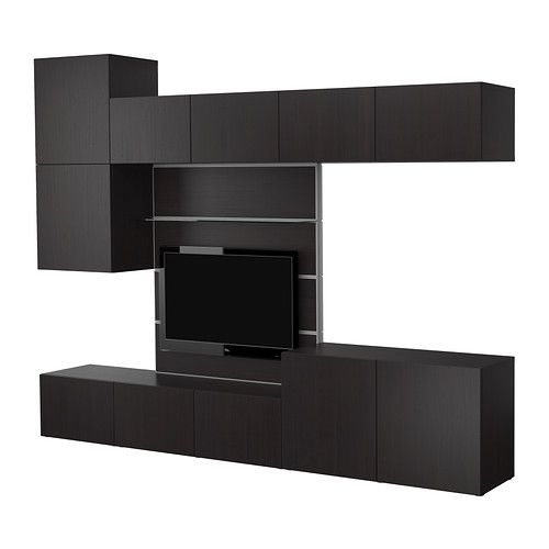 best tv panel with media storage ikea panel doors for hidden dust free storage of dvds. Black Bedroom Furniture Sets. Home Design Ideas