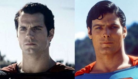 Fans mixes Christopher Reeve's look with Henry Cavill