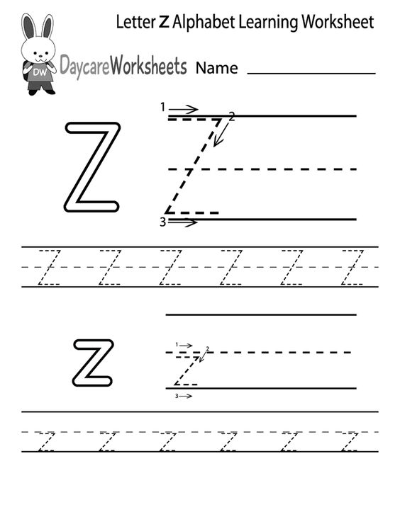 Letter Z Worksheets to Print | Activity Shelter | Kids Worksheets ...