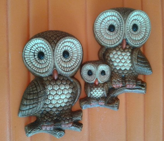 Pair of Vintage Foam Craft Barn Owl Family by eclecticcitystore, $11.99