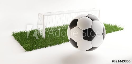 Soccer Field Ball And Goal 3d Illustration Ad Field Soccer Ball Illustration Goal Ad In 2020 Soccer Soccer Field Ball