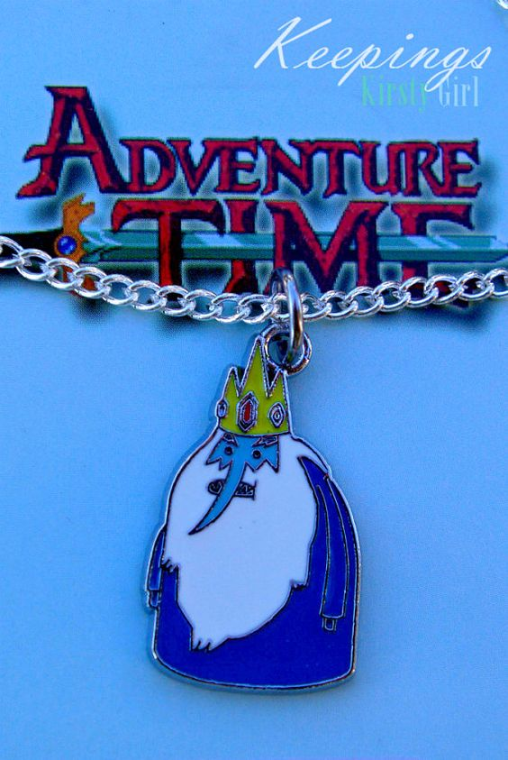Adventure Time Ice King silver necklace