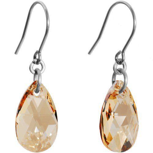 Colorado Teardrop Titanium Nickel Free Earrings MADE WITH SWAROVSKI ELEMENTS Body Candy. $12.99. Hypoallergenic. Nickel Free Earrings