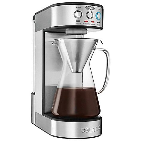 Gourmia Reg 4 Cup Fully Automatic Pour Over Coffee Maker In Stainless Steel Pour Over Coffee Maker Electric Coffee Maker Best Drip Coffee Maker