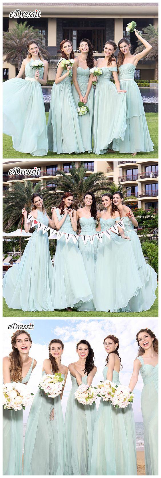 Mint bridesmaid dresses from eDressit! #bridesmaids #mint #wedding