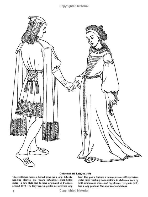 elizabethan coloring pages - photo#26