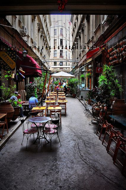 A Street Cafe in Beyoglu - Istanbul, TURKEY.