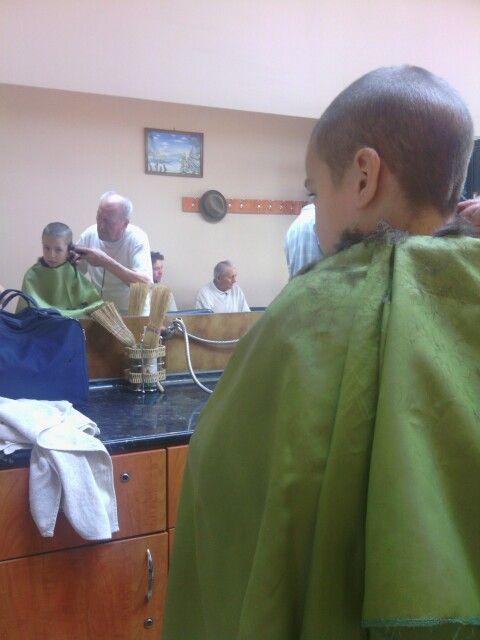 At barbershop
