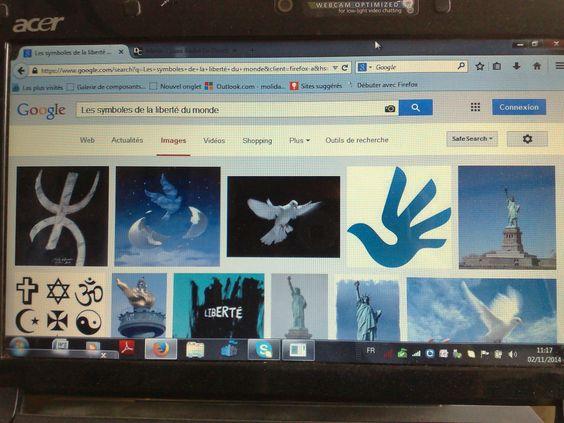 """Le classement des symboles et status de la liberté sur Google Images.""""les symboles de la liberté du monde"""""""