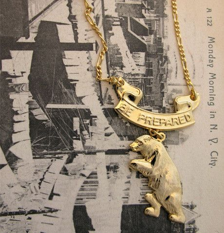 Be Prepared for Bears Necklace