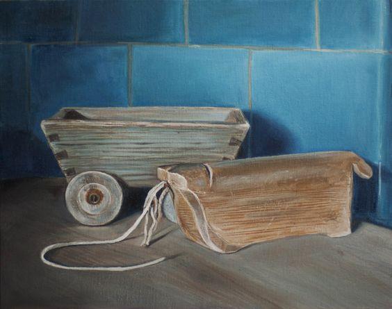 """Wooden cow"" / 30cm x 24cm / oil, Canvas on panel"