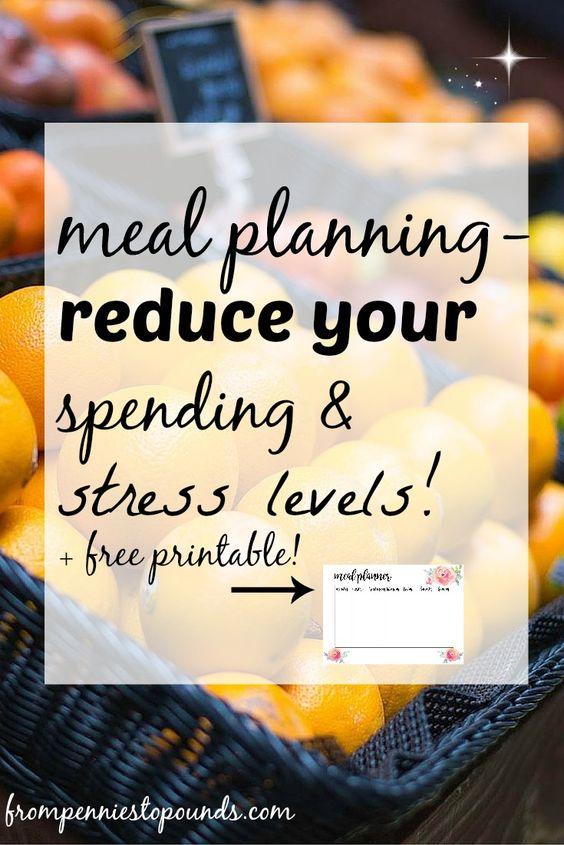 Meal Planning tips and ideas. Reduce your grocery bill & stress levels! Plan your shopping and this will save you so much more time. Click on the link to see the blog post: http://www.frompenniestopounds.com/meal-planning-reduce-grocery-spending-stress-levels/