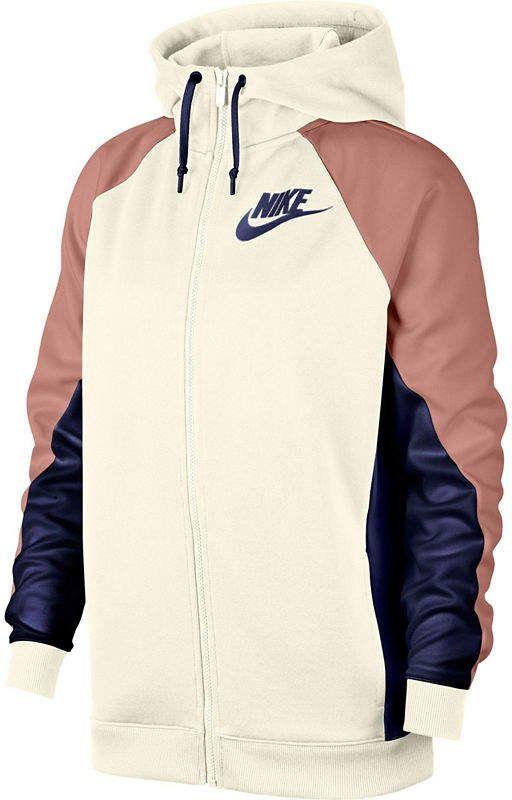 women's nike colorblock hooded track jacket